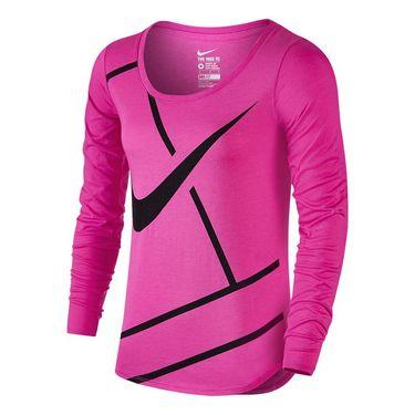 Nike Court Practice Tennis Top - Fire Pink