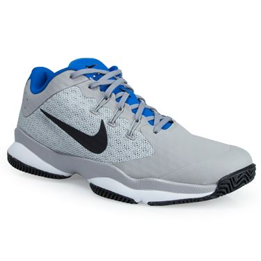 Nike Air Zoom Ultra Mens Tennis Shoe - Grey/Black/White/Blue