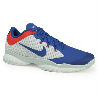 Nike Air Zoom Ultra Mens Tennis Shoe - White/Blue Jay/Pure Platinum/Action Red