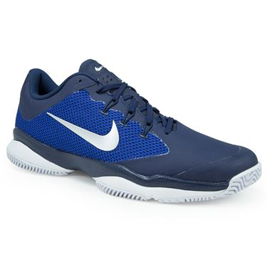 Nike Air Zoom Ultra Mens Tennis Shoe - Midnight Navy/Metallic Silver/Racer Blue