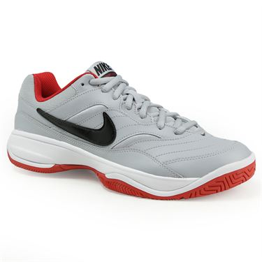 Nike Court Lite Mens Tennis Shoe - Wolf Grey/Black/University Red