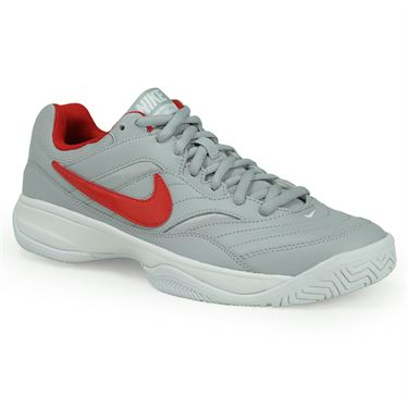 Nike Court Lite Mens Tennis Shoe - Wolf Grey/University Red/White