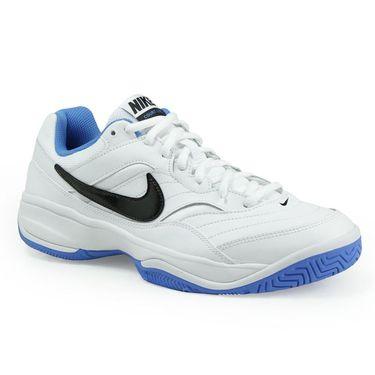 Nike Court Lite Mens Tennis Shoe - White/Black/Light Photo Blue
