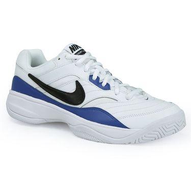 Nike Court Lite Mens Tennis Shoe - White/Black/Blue Jay