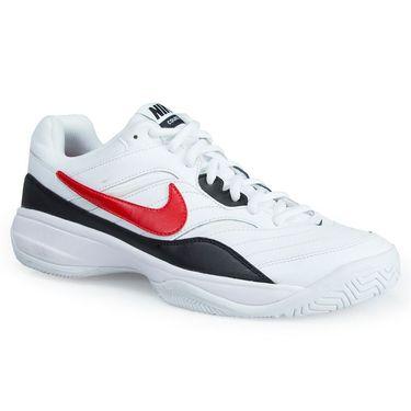 Nike Court Lite Mens Tennis Shoe - White/Red/Black