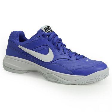 Nike Court Lite Mens Tennis Shoe - Medium Blue/White