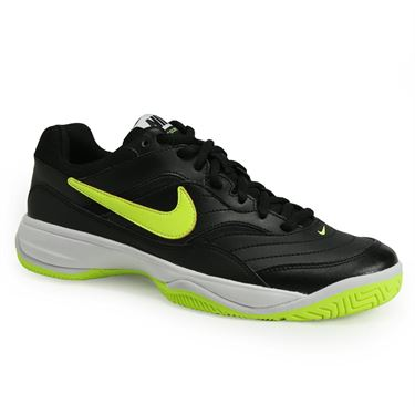 Nike Court Lite Womens Tennis Shoe - Black/Volt/White