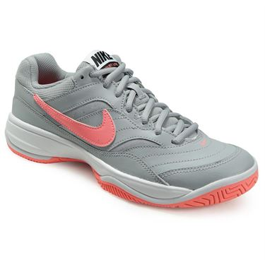 Nike Court Lite Womens Tennis Shoe - Wolf Grey/Lava Glow/Black