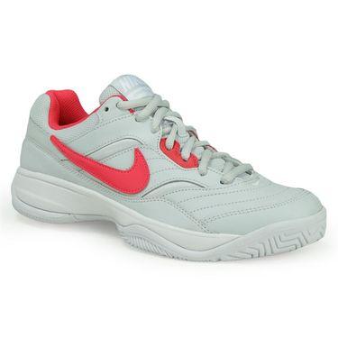 Nike Court Lite Womens Tennis Shoe - Pure Platinum/Siren Red/White