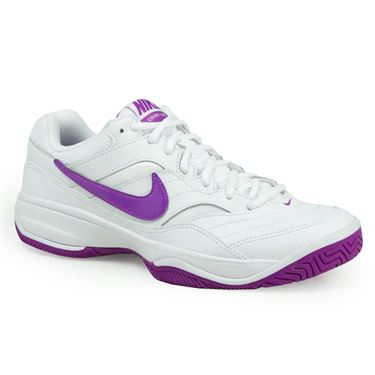 Nike Court Lite Womens Tennis Shoe - White/Vivid Purple