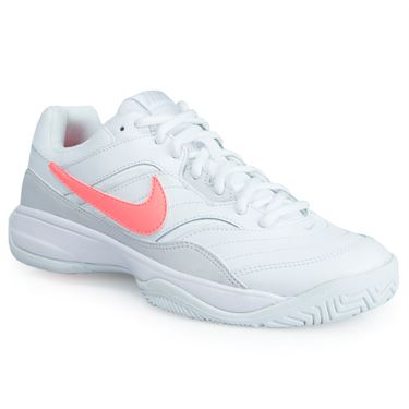 Nike Court Lite Womens Tennis Shoe - White/Lava Glow/Grey