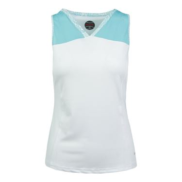 Bolle Aquarius High V Neck Tank - White