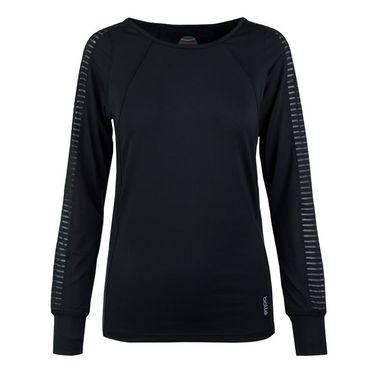 Bolle Paisley Petal Long Sleeve Top - Black