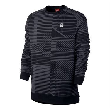 Nike Long Sleeve Printed Crew - Black