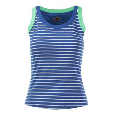 Bolle Francesca Scoop Neck Printed Tank - Royal Heather Blue/White