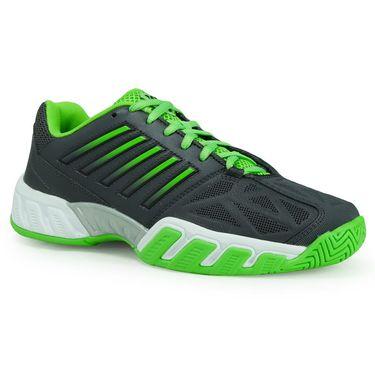 K Swiss Bigshot Light 3 Junior Tennis Shoe - Dark Shadow/Jasmine Green