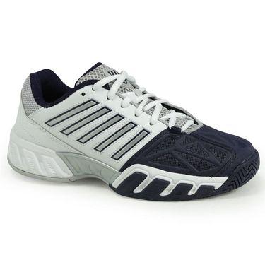 K Swiss Big Shot Light 3 Junior Tennis Shoe - White/Navy
