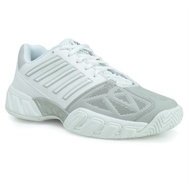 K Swiss Bigshot Light 3 Junior Tennis Shoe - White/Silver