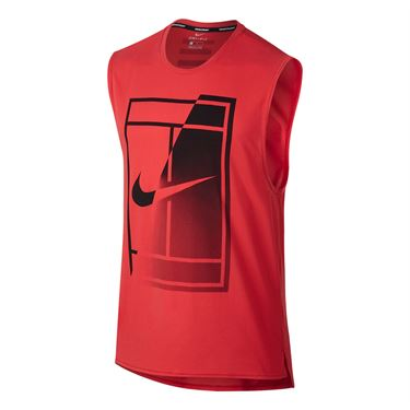 Nike Court Breathe Tank - Action Red