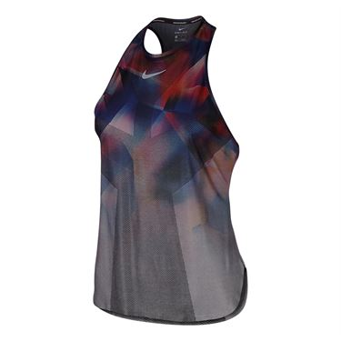 Nike Court Dry Slam Tank - Metallic Platinum/Hot Punch