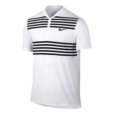 Nike Court Advantage Striped Polo - White