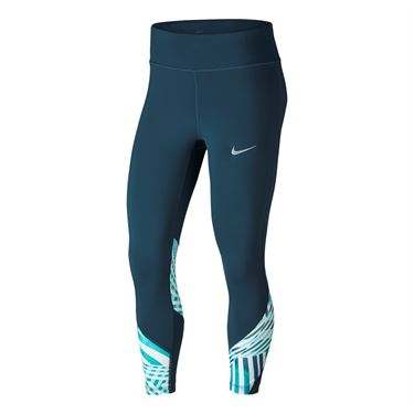 Nike Power Epic Lux Running Crop - Space Blue
