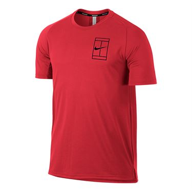 Nike Court Breathe Crew - Action Red