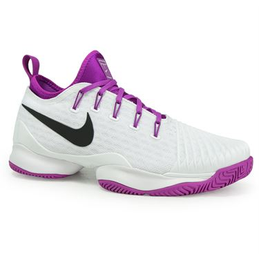 Nike Air Zoom Ultra React Womens Tennis Shoe - White/Black/Vivid Purple