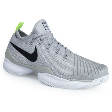 Nike Air Zoom Ultra React Mens Tennis Shoe - Grey/Black/Volt Glow