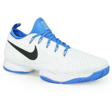 Nike Air Zoom Ultra React Mens Tennis Shoe - White/Black/Light Photo Blue