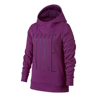 Nike Girls Therma Training Hoodie - Bold Berry