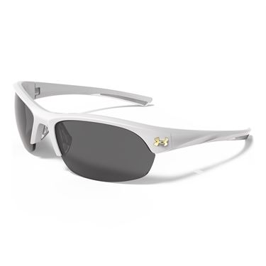 Under Armour Marbella Sunglasses - Satin Pearl (Frames) Gray Multiflection (Lenses)