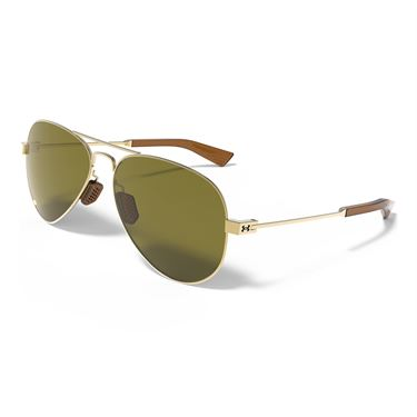Under Armour Getaway Sunglasses - Shiny Gold (Frames) Green (Lenses)