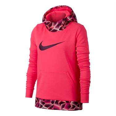 Nike Girls Therma Training Hoodie - Racer Pink/Bordeaux