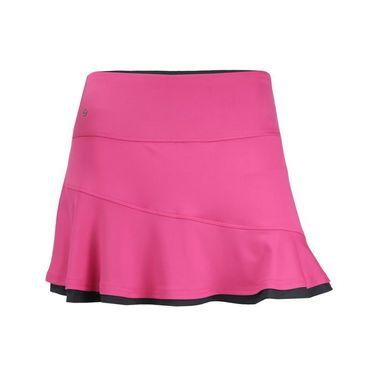 Bolle Daniela Asymmetrical Flounce Skirt - Fuchsia