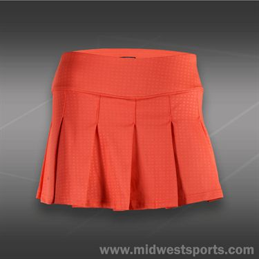 Bolle Wild Fire Pleated Skirt - Coral