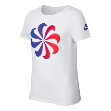 Nike Girls Sportswear Tee - White/Bold Berry