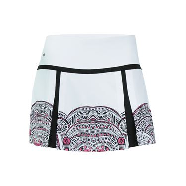 Bolle Aztec Double Pleat Skirt - White