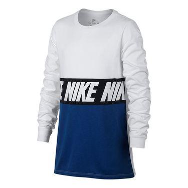 Nike Boys Sportswear Advance 15 Training Tee - White/Blue Jay