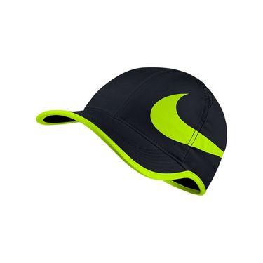 Nike Aerobill Feather Light Swoosh Hat - Black/Volt