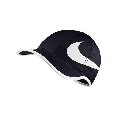 Nike Aerobill Feather Light Swoosh Hat - Black/White