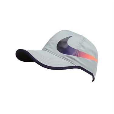 Nike Aerobill Feather Light Swoosh Hat - Wolf Grey/Purple Dynasty
