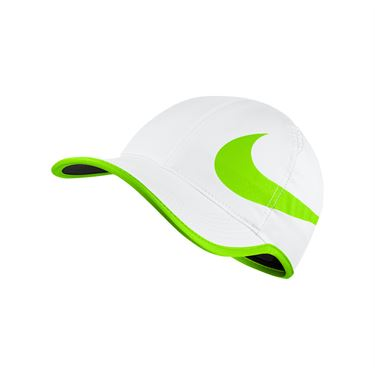 Nike Aerobill Feather Light Swoosh Hat - White/Electric Green