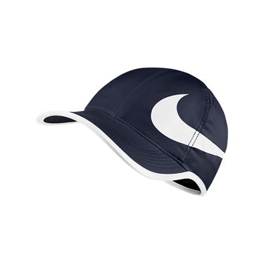 Nike Aerobill Feather Light Swoosh Hat - Obsidian/White
