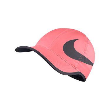 Nike Court Aerobill Featherlight Swoosh Hat - Lava Glow/Gunsmoke 864100 676