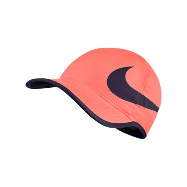 Nike Aerobill Feather Light Swoosh Hat - Bright Mango/Purple Dynasty