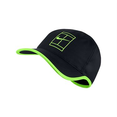 Nike Court Aerobill Feather Light Tennis Hat - Black/Ghost Green