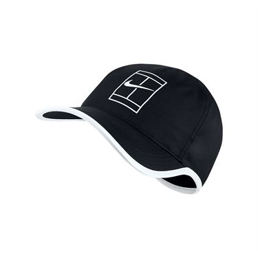 Nike Court Aerobill Feather Light Tennis Hat - Black/White