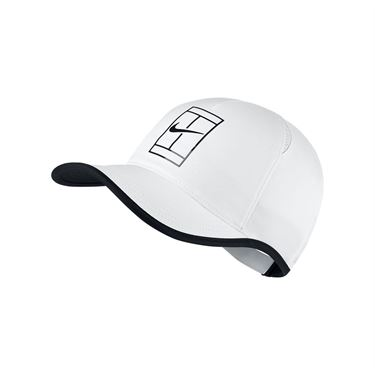Nike Court Aerobill Feather Light Tennis Hat - White