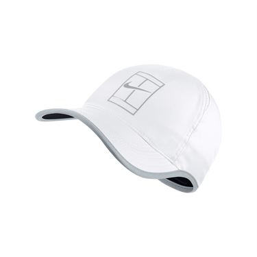 Nike Court Aerobill Feather Light Tennis Hat - White/Pure Platinum